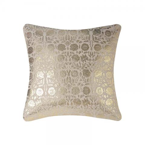 Gold Foil Printed Floral Abstract Cushion Covers