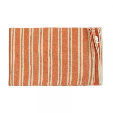 Orange and white stripe blanket