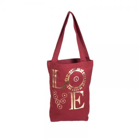 Tote Bag with gold foil printing