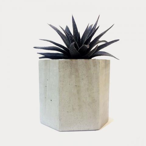 Concrete Planter - hex Large