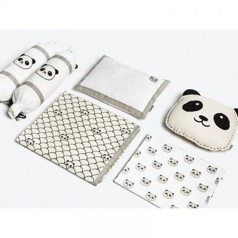 Peek-a-boo Panda Crib Bedding Set With Dohar