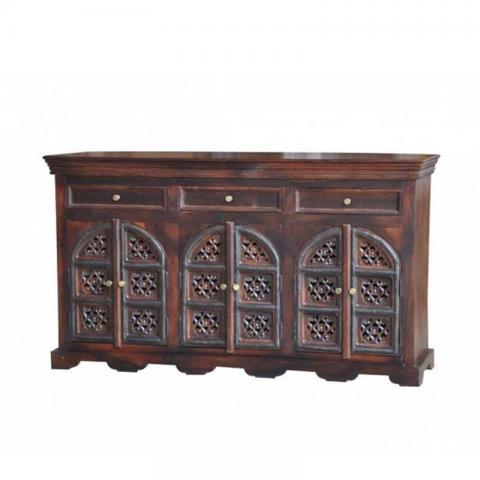 Gothic Sideboard 3 Drawers With 3 Cabinets