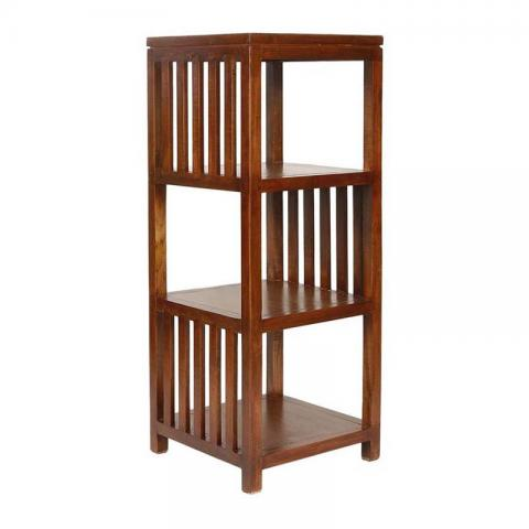 Teak Wood Book Shelf With Honey Brown Colour