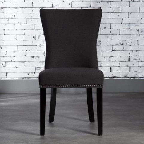 Gaby Chair Made Of Fabric Black
