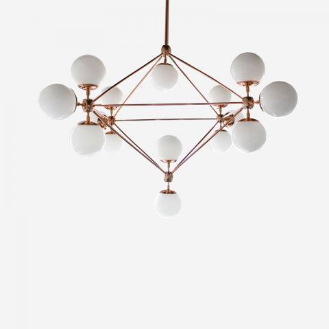 Blob Chandelier - Rose Gold 10 Globes