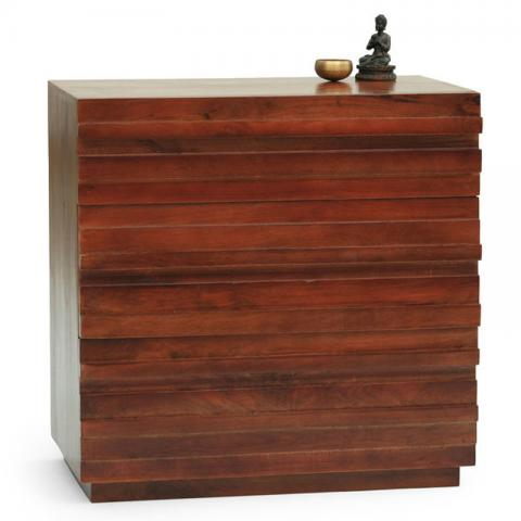 Bari Chest Of Drawers Small - Mahogany