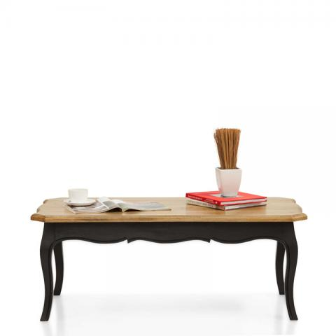 Dinan Coffee Table - Black, Natural