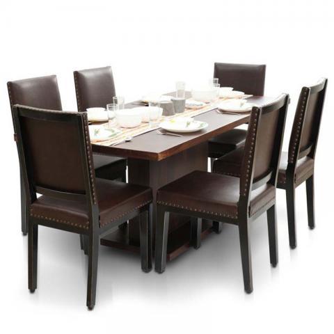 Bocado-Caprica 6 Seater Dining Table Set Mahagony