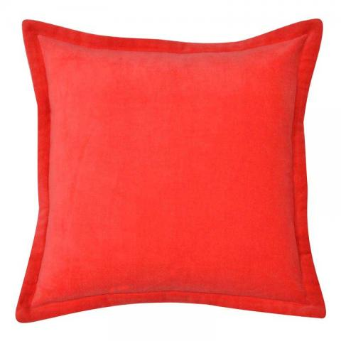 Home Boutique - Velvet Cushion Cover Red
