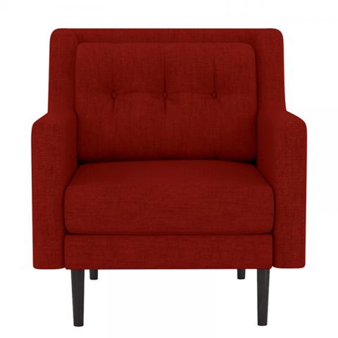Heather - Red One Seater Sofa