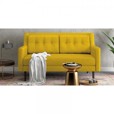 Heather - Yellow Two Seater Sofa