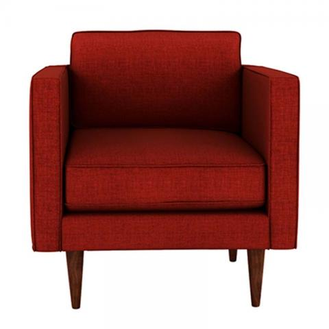 Quince - Red One Seater Sofa