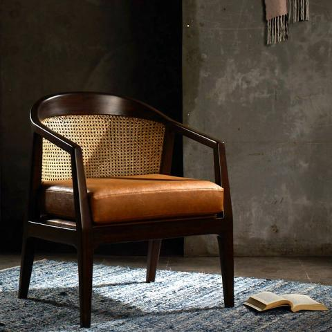 Eden Accent Chair - Tan