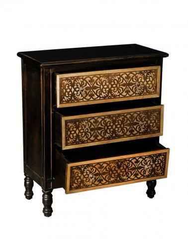 Mango Wood Chest 3 Drawers Cabinet