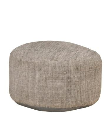 Cotton Upholstered Surmai Poof