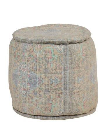 Cotton Upholstered Rangeen Poof