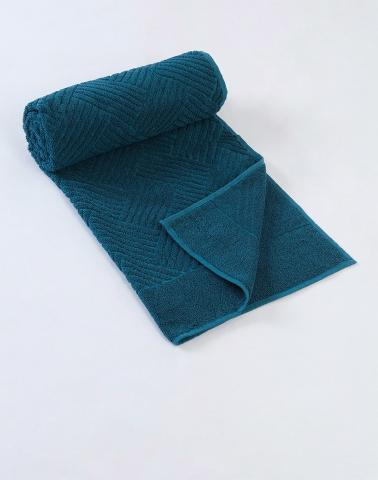 Green Cotton Pile Hand Towel