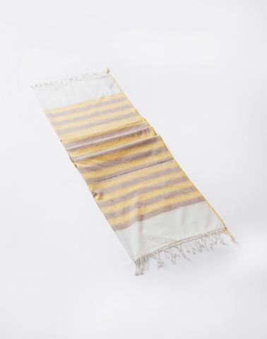 Yellow Cotton Woven Sarang Gamcha - Hand Towel
