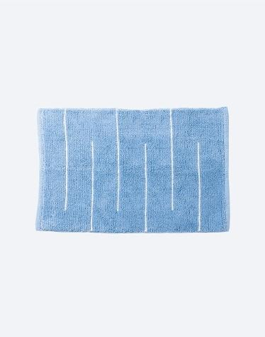 Blue/White Cotton Woven Disha Bathmat