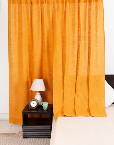 Yellow Cotton Woven Nalika Curtain Door