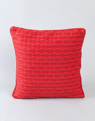 Cotton Woven Deepali Cushion Cover Red M