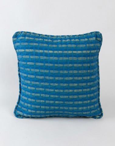 Cotton Woven Deepali Cushion Cover Blue S