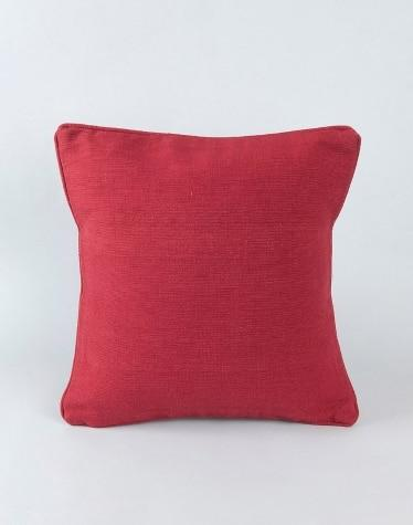 Maroon Cotton Woven Dhc Cushion Cover