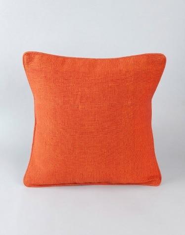 Orange Cotton Woven Dhc Cushion Cover