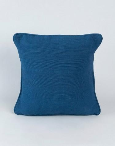 Blue Cotton Woven Dhc Cushion Cover