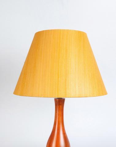 Yellow Silk Cotton Basix Floor Lamp Shade