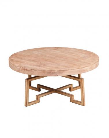 Mango Wood Metal Java Round Table
