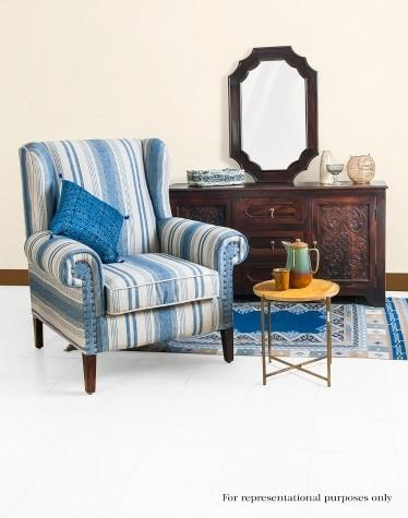 Sheesham Wood Amer Upholstered Chair