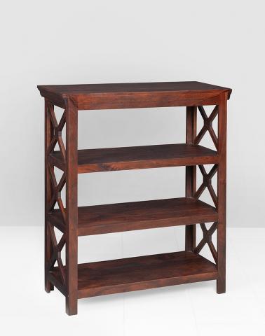 Sheesham Wood CrissCross Book Rack