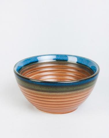 Brown Ceramic Saranya Nut Bowl