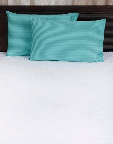 Blue Cotton Woven Twill Pillow Cover