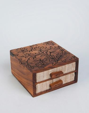 Wood Rawiyah Jewellery Box With Drawers