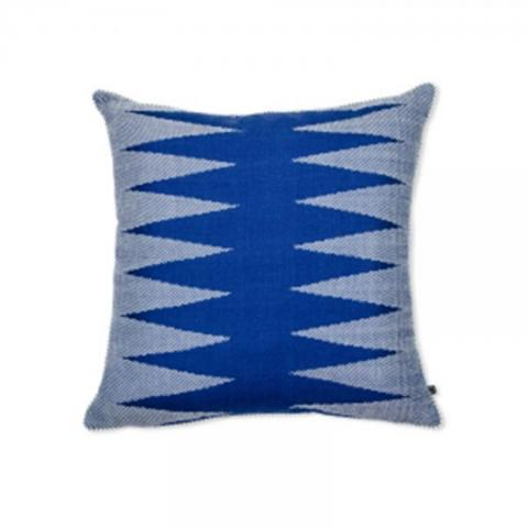 Two Row Ashok Trees Cushion Cover - Blue