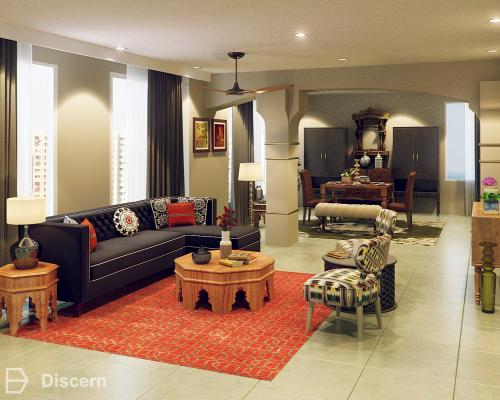Middle Eastern Ethnic Living Room