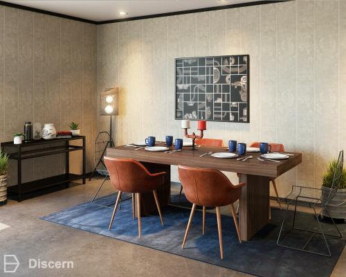 Trendy Eclectic Dining Room