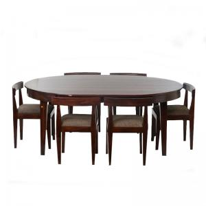 dark-mahogany-finish-dining-table-with-flushed-in-6-chairs - ficus-fine-living