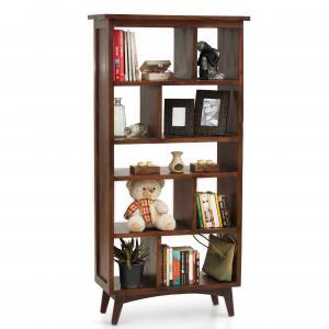 prague-book-shelf-mahogany - storage-and-shelves