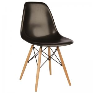 replica-eames-dsw-side-chair-in-plastic-beech-legs-dark-black-color - chairs