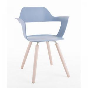 muse-chair-blue-color-with-wooden-color-legs - chairs