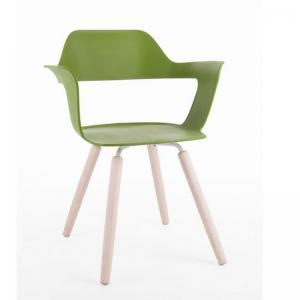 muse-chair-green-color-with-wooden-color-legs - chairs