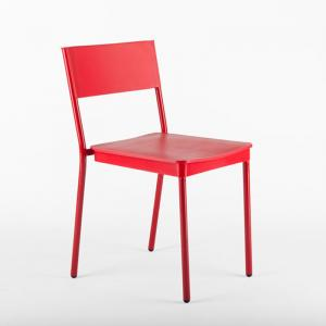 latt-chair-red-color - outdoor-furniture