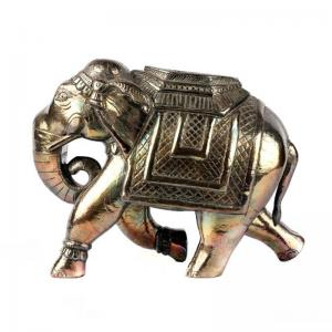 hand-carved-silver-elephant - statues-sculptures-and-artifacts