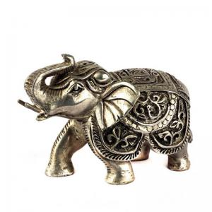 silver-coated-wax-elephants - statues-sculptures-and-artifacts