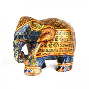 lapis-lazuli-handcarved-elephant-s - statues-sculptures-and-artifacts
