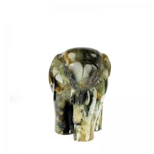 moonstone-handcarved-elephants-s - statues-sculptures-and-artifacts