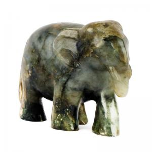 moonstone-handcarved-elephants-l - statues-sculptures-and-artifacts